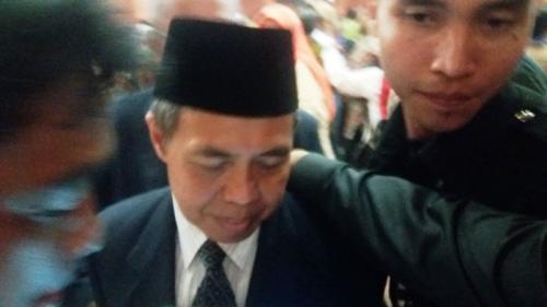 Nur Mahmudi di Pelantikan DPRD Depok (Foto: Okezone/Wahyu)