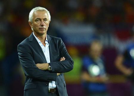 Bert Van Marwijk enggan meremehkan Timnas Indonesia (Foto: Reuters)