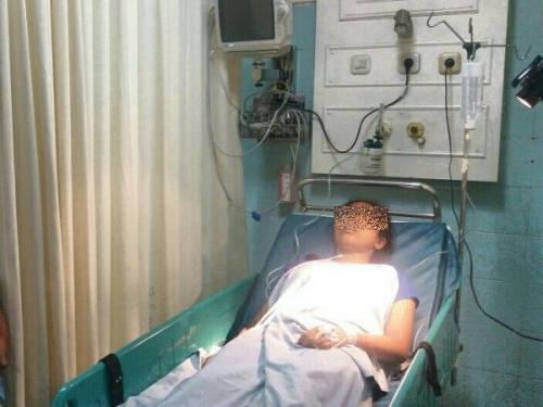 Siswi SMA berinisial LM dirawat di RSUD Bogor karena hendak bunuh diri dengan melompat dari Jembatan Merah di Bogor. (Foto : Ist)