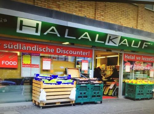 Supermarket makanan halal di Jerman