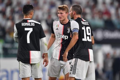 Matthijs de Ligt, Cristiano Ronaldo, dan Leonardo Bonucci