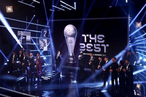 Cristiano Ronaldo di Penghargaan Pemain Terbaik FIFA