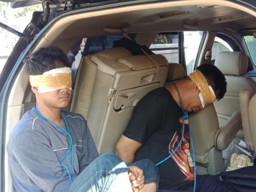 Dua pembunuh bayaran yang disewa Aulia Kesuma habisi suaminya ditangkap. (Ist)