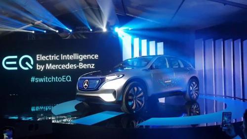 Mobil listrik Mercedes Benz