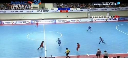Timnas Futsal Indonesia vs Taiwan (Foto: Metube)