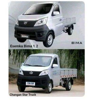 Perbandingan mobil rakitan Esemka dengan Changan Star Truck dari China