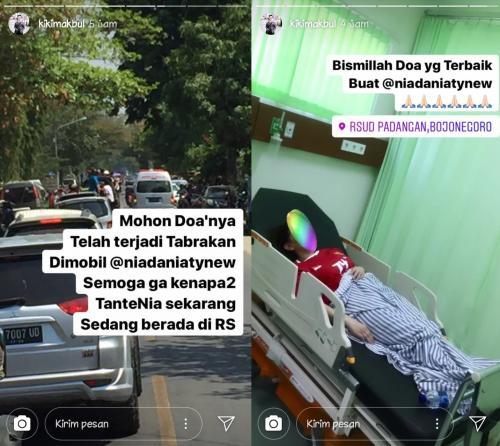 Nia Daniaty kecelakaan