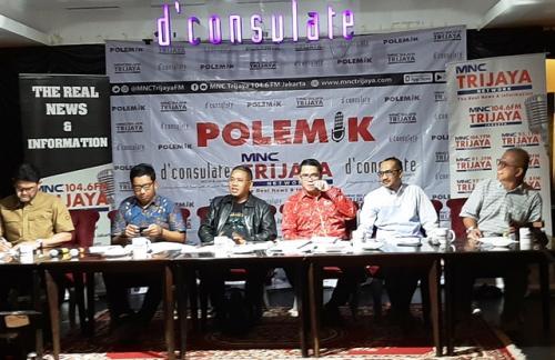 Diskusi Polemik MNC Trijaya tentang Revisi UU KPK. (Foto: Harits Tryan Akhmad/Okezone)
