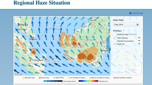 Sebaran Kabut Asap di Indonesia