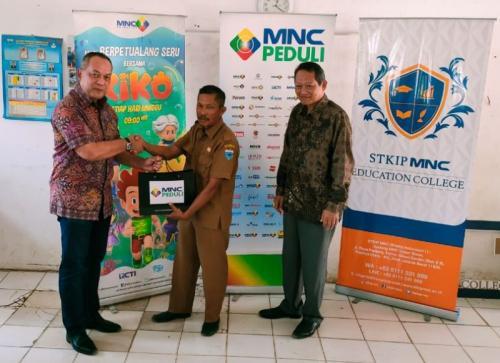 MNC Peduli, STKIP MNC dan MNC Animasi Belajar dan Bermain Bersama di SDN Panimbang Jaya 3 (foto: Ist)