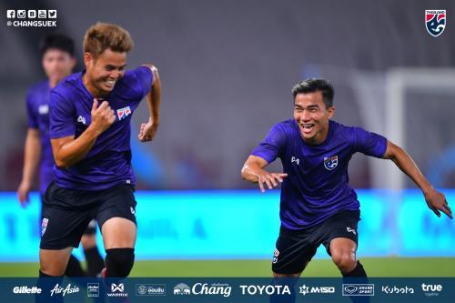 Timnas Thailand mulai berlatih di SUGBK (Foto: Federasi Sepakbola Thailand)