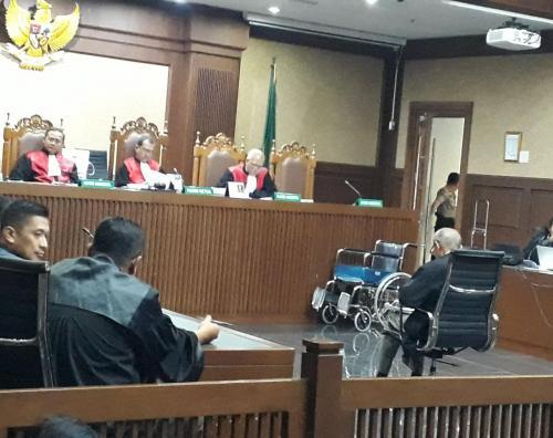 Kivlan Zen saat persidangan di PN Jakpus, Rabu (18/12/2019). (Foto : Okezone.com/Fahreza Rizky)