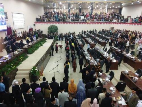 Pelantikan Anggota DPRD Banten (Foto: Sindonews/Rasyid)