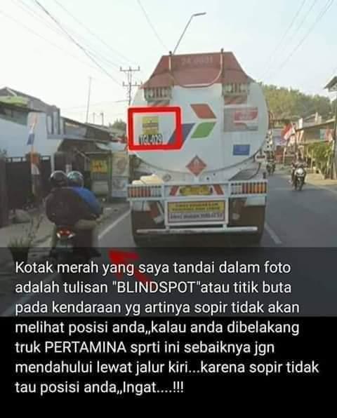 Area Blind spot truk