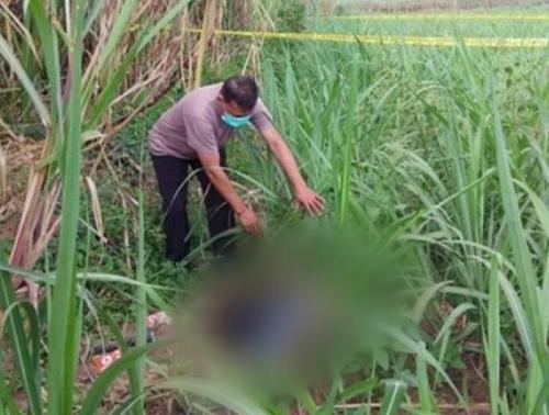 Jasad Pelaku Begal di Kebun Tebu, Kabupaten Malang, Jatim (foto: Unit PPA Polres Malang/Ist)