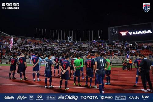Timnas Thailand memuncaki klasemen Grup G Kualifikasi Piala Dunia 2022 Zona Asia (Foto: Twitter/Changsuek)