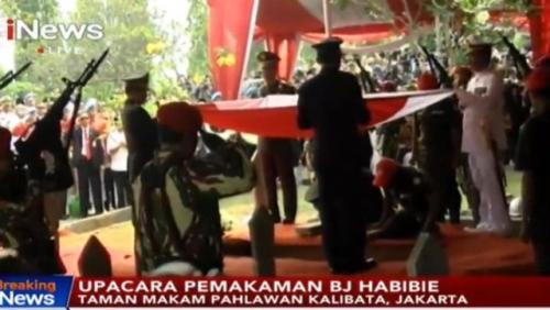 Prosesi pemakaman BJ Habibie