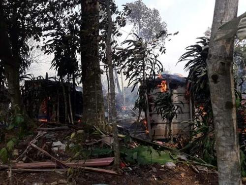 Satu Kampung di Baduy Luar Ludes Terbakar (foto: Facebook/Ist)
