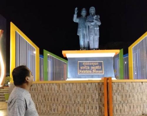 Monumen Cinta Sejati Habibie Ainun di Parepare, Sulsel. (Foto : Okezone.com/Herman Amiruddin)