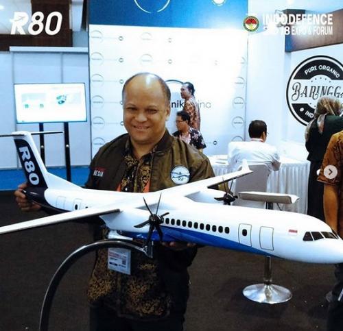 Komisaris PT Regio Aviasi Industri (RAI) Ilham Habibie, yang juga anak pertama BJ Habibie (Foto: Okezone.com/Instagram @pesawatr80)