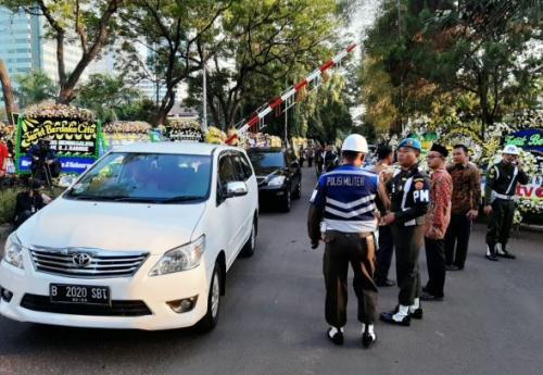 Suasana rumah duka BJ Habibie. (Foto : Okezone.com/Fadel Prayoga)