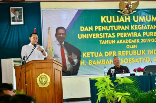 Bamsoet Beri Kuliah Umum di Kampusnya yang Baru Unperba di Purbalingga. (Ist)