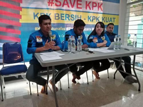 Tim pengacara muda KNPI dukung KPK yang bersih dan kuat (Foto: Istimewa)