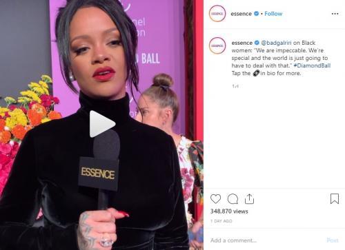 Rihanna diisukan hamil. (Foto: Instagram/@essence)