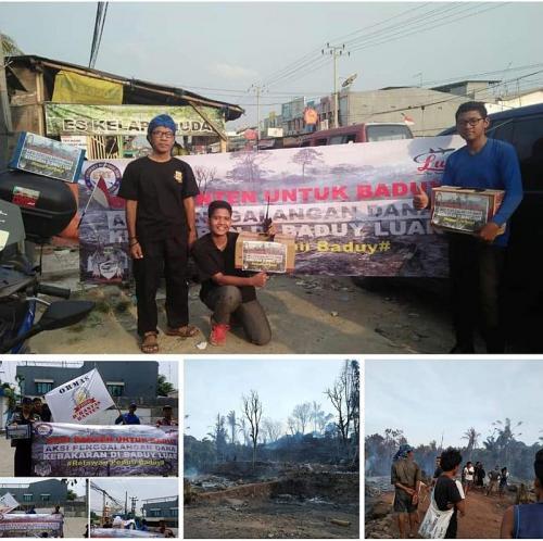 penggalangan dana untuk warga Baduy
