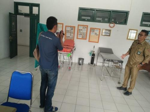 Rumah singgah oksigen di area kantor Dinkes Kotawaringin Barat, Kalteng. (Foto : iNews/SIgit Dzakwan)