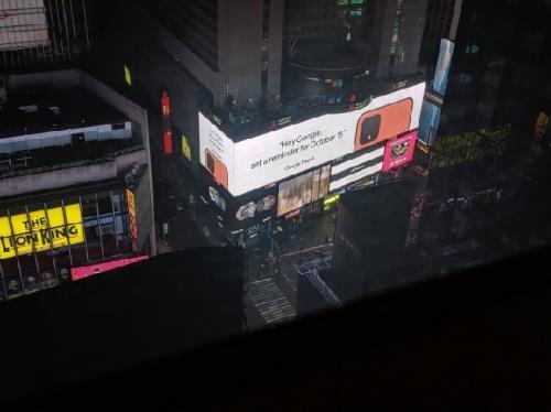Iklan Google Pixel 4 Terlihat di Times Square