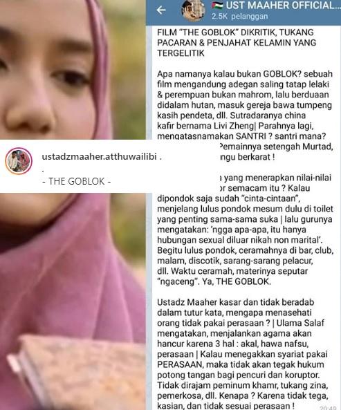 Ustadz Maheer Atthuwailibi mengkritik keras film Livi Zheng. (Foto: Instagram/@ustadzmaaher.atthuwailibi)