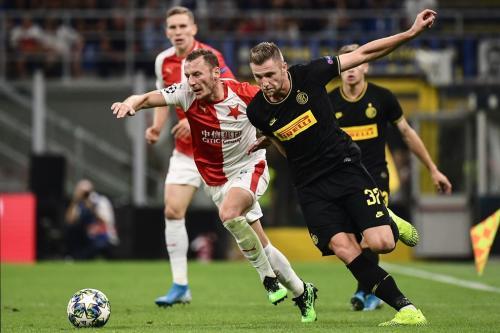 Milan Skriniar vs Slavia Praha (Foto: UEFA)