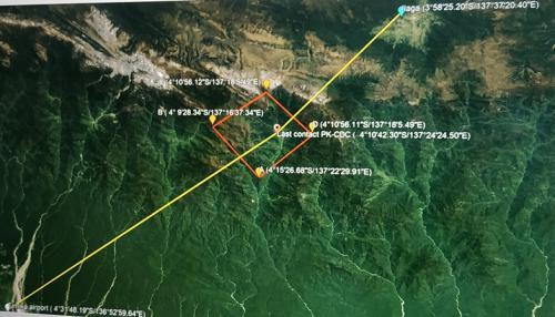 Posisi terakhir pesawat saat hilang kontak berada di Papua (Foto: Okezone.com/Saldi Hermanto)