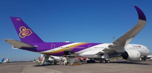 Maskapai Thailand Mendarat di Bandara Internasional Sultan Makassar karena Ada Penumpang Sakit Jantung (foto: Humas Bandara Internasional Sultan Hasanuddin/Ist)