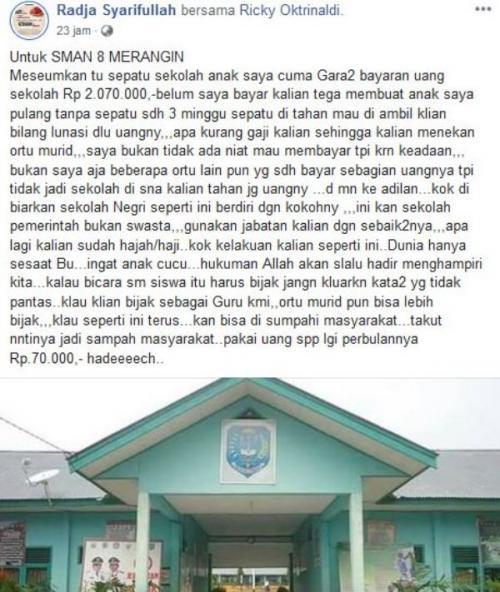Postingan Radja Syarifullah