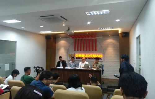 Ombudsman saat konpers