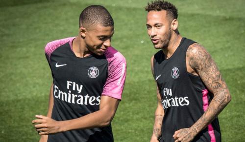 Kylian Mbappe dan Neymar Jr