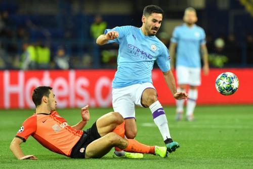 Man City berhasil membawa pulang tiga angka dari Kharkiv (Foto: UEFA)