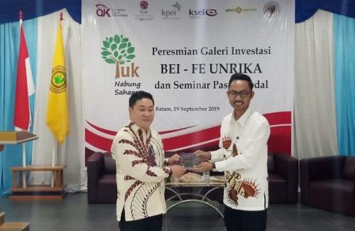Galeri investasi Unrika (Dok MNC Sekuritas)