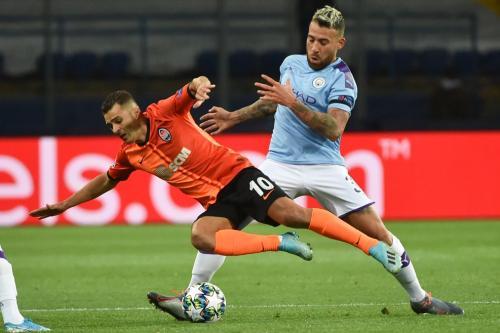 Manchester City disebut Pep Guardiola berhasil bertahan dan menyerang dengan sama baik (Foto: UEFA)