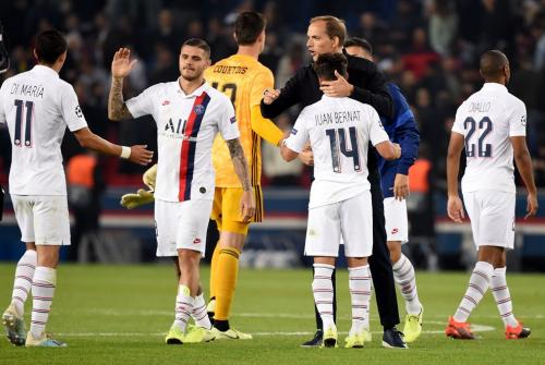 Thomas Tuchel bersama para pemain PSG