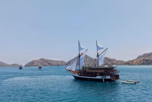 Kapal Pinisi di Labuan Bajo (Foto: Okezone.com/Feby Novalius)