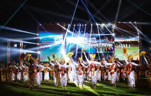Pembukaan POMNAS XVI tahun 2019 (Foto: Okezone.com/Dok. Kemenristekdikti)