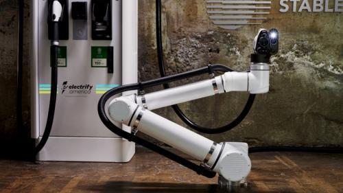 Robot pengisi baterai listrik