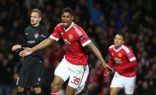 Marcus Rashford mencetak dua gol pada debutnya (Foto: Twitter)