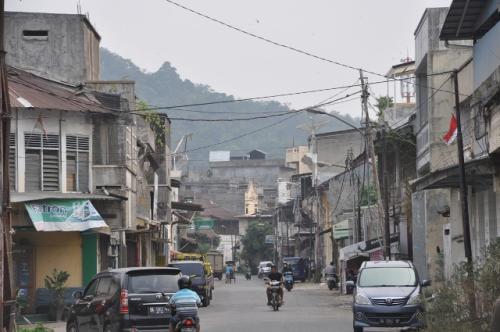 Kota tua Padang, Pasar Mudik. (Foto: Rus Akbar/Okezone)
