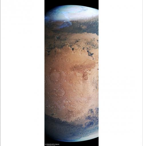 Planet Mars Diselimuti Warna Biru