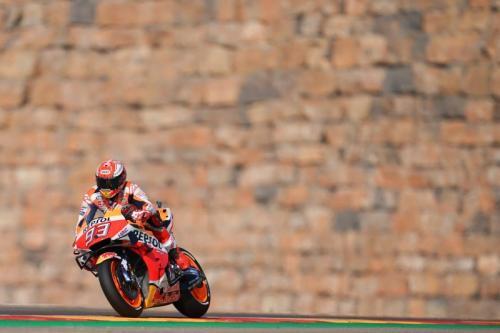 Marc Marquez tampil dalam sebuah balapan di MotoGP 2019