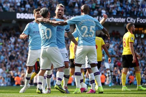 Manchester City berselebrasi
